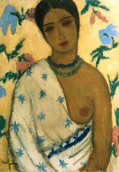Portrait of a Biracial Woman : Nicolae Tonitza : Post Impressionism : portrait - Oil Painting Reproductions Post Impressionism, Impressionism, Figure Painting, Life Drawing, Painting, Human Figure Drawing, Painting Reproductions, Artwork, Portrait