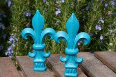 Small+Victorian+Fleur+De+Lis+Decor++Turquoise+by+oxfordstreetgifts,+$11.00