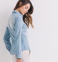 Chemise en jean Femme jean clair - J'ai juste envie de la mettre tous les jours!!!