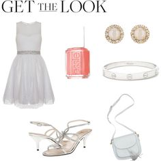 Get the Look: Met Gala 2016 by sandersno on Polyvore featuring Quiz, E! Live From The Red Carpet, Kate Spade, Cartier, Essie, GetTheLook and MetGala