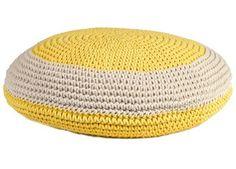 trendy ronde crochet pouffe Anne-Claire Petit | kinderen-shop Kleine Zebra