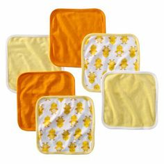 Just One You made by Carter's Baby Yellow Duckie Washcloths 6-pk.