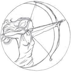 Artemis Bas Relief Lineart by NightOwl70.deviantart.com on @deviantART