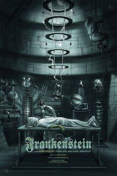 Frankenstein poster, by Jonathan Burton! This poster's nicer than my third wife! Also, someone help Igor down before he hurts himself.
