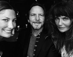 "14 Likes, 1 Comments - Cindy Crawfords (@cindy.crawfords) on Instagram: ""Jill Vedder, Eddie Vedder, and Helena Christensen!! What a trio! #jillvedder #jillmccormick…"""