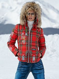 laria tartan parka bogner  Gorsuch.com  $1,878.00 Like the details on jacket ...NOT THE PATTERN AND FUR