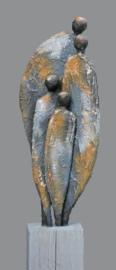 Family Sculpture, Modern Art Sculpture, Abstract Sculpture, Abstract Art, Paper Mache Sculpture, Pottery Sculpture, Wood Sculpture, Ceramic Sculpture Figurative, Buddhist Art