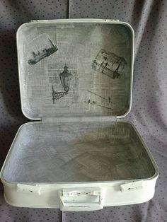Detalle de la maleta y los transfer interiores