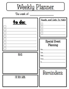 "FREE LESSON - ""Weekly Planner"" - Go to The Best of Teacher Entrepreneurs for this and hundreds of free lessons.  #FreeLesson   #TeachersPayTeachers   #TPT  #ClassroomManagement  http://www.thebestofteacherentrepreneurs.net/2012/04/free-misc-lesson-weekly-planner-sheet.html"