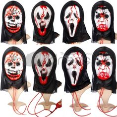 Halloween grimace of horror bloody bloody skull caps sac, all different shape and color.