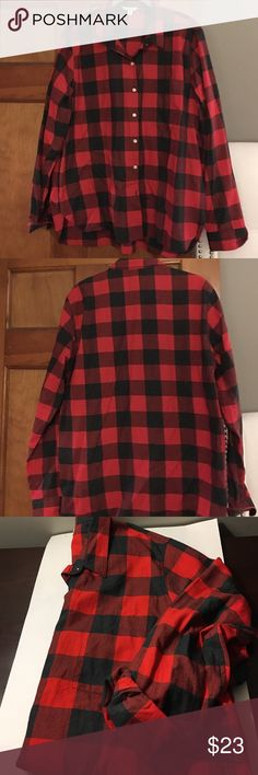GAP New Never worn classic buffalo check L New Never worn GAP highly coveted  buffalo check size large button down so festive and chic comes out every year GAP Tops Button Down Shirts