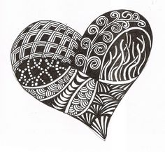 """Starter Zentangle: """"With zentangle, no earaser is needed.  As in life, we cannot ease mistakes or events, instead we must build upon them and make improvements from any event."""""""