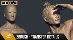 Zbrush Sculpting Tutorial Tips and Tricks - Transferring Details between Meshes