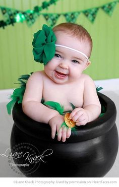 St. Patrick's Day Photo Inspiration - Child Photography by L Knack Photography featured on I Heart Faces Photography Blog