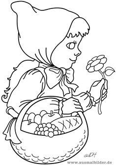 ausmalbild märchen: rotkäppchen zum ausmalen kostenlos ausdrucken | rotkäppchen | ausmalbilder