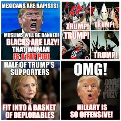 Because Trump supporters have never EVER been offensive to anyone! *snark*