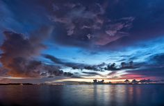Miami's First Light (clouds sunrise+sunset city+skyline sky tropical water ). Photo by 13468