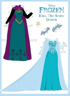 Disney's Frozen Paper Dolls: Elsa's Outfits by evelynmckay