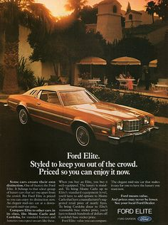 Items similar to 1976 Ford Elite Car Photo Ad Vintage Advertisement Wall Art Decor Print on Etsy & 1949 Ford Coupe Utility. | publicidad | Pinterest | Coupe Ford ... markmcfarlin.com