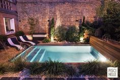 Small backyard plunge pool