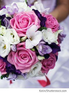 Brautstrauß in pink lila für russische Hochzeiten