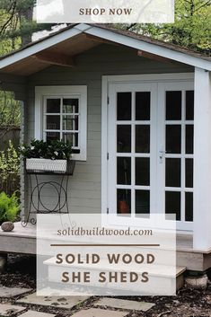 She Shed Kits - the top choice lady cave of 2020 Shed Building Plans, Diy Shed Plans, Building Ideas, Building Design, Backyard Sheds, Outdoor Sheds, Outdoor Gardens, Shed Blueprints, Craft Shed