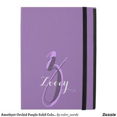 Amethyst Orchid Purple Solid Color Personalized iPad Pro Case