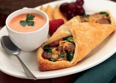 Image of Johnsonville Cheesy Bratwurst & Broccoli Pastry Wraps Grilling Recipes, Gourmet Recipes, Cooking Recipes, Healthy Recipes, Seafood Recipes, Sausage Meatballs, Kielbasa Sausage, Slow Cooker Overnight Breakfast, Johnsonville Sausage Recipes