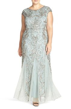Pisarro Nights Beaded Gown available at #Nordstrom
