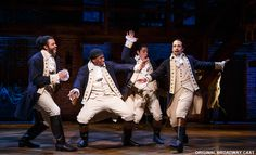 Marquis de Lafayette (Daveed Diggs), Hercules Mulligan (Okieriete Onaodowan), John Laurens (Anthony Ramos), and Alexander Hamilton (Lin-Manuel Miranda) in the acclaimed Broadway musical Hamilton. Alexander Hamilton, Phillip Hamilton, Musical Hamilton, Hamilton Broadway, Hamilton Star, Hamilton Quiz, Hamilton Playbill, Hamilton Soundtrack, Hamilton Quotes