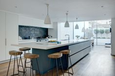 I want this kitchen !Roundhouse Urbo matt lacquer bespoke kitchen