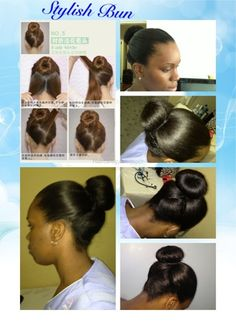 Stylish Hair-bun #relaxedhair #protectivestyle