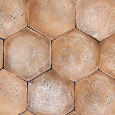 Paver Color - Adama 5 (hex) By Tabarka Studio --Available in multiple earth tones from terra cotta to dark brown, tiles-- Tabarka Tile, Hex Tile, Hexagon Tiles, Mosaic Tiles, Geometric Tiles, Kitchen Buffet, Kitchen Decor, Kitchen Flooring, Kitchen Backsplash