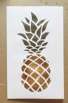 stencils pineapple stencil printable apple leaf pine