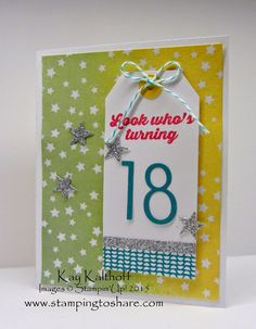 Stamping to Share: Hooray It's Your Day Project Kit and a Birthday Gift Card Holder with How To Video
