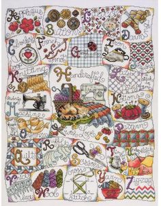 Design Works Stitching ABC - Counted Cross Stitch Kit. Kit contains 100% cotton 14 count Aida, cotton floss, needle, and complete instructions. Finished size: 1