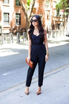 d5630b6e499 12 Ways To Wear  Rompers and Jumpsuits. Casual ChiqueBlack Jumpsuit  OutfitJumpsuit DressyFashion ...