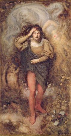 Henry John Stock (1853-1930) - Ferdinand and Ariel (1880)