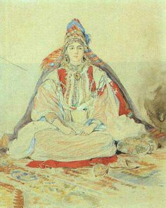 Eugène Delacroix,la mariée juive de Tanger,1832.Aquarelle sur papier. Musée du Louvre.