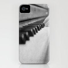 Music iPhone 5 case Piano Keys cover $45.00, via Etsy.