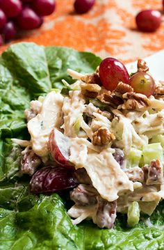 Chicken salad made skinny and still delicious!