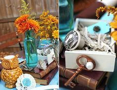 keys & eclectic tablescape - Celebrations At Home blog