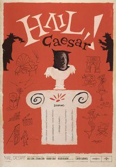 Hail, Caesar! (2016) ~ Alternative Movie Poster by Maks Bereski #amusementphile