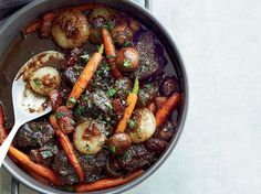Beef Stew in Red Wine Sauce | Jacques Pepin's beef stew recipe is always a hit with his chef friends. He braises the beef in robust red wine to get a rich, luscious stew with tender meat.