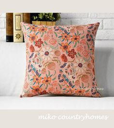 $15 | Nature Inspired | Floral Print | Throw Pillow Cover #throwpillows #pillowcover #floralprint