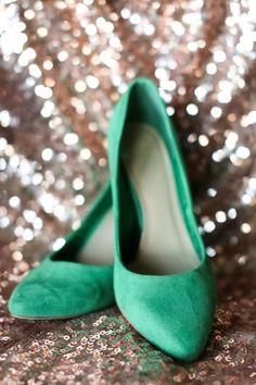pretty green heels | Anna K #wedding