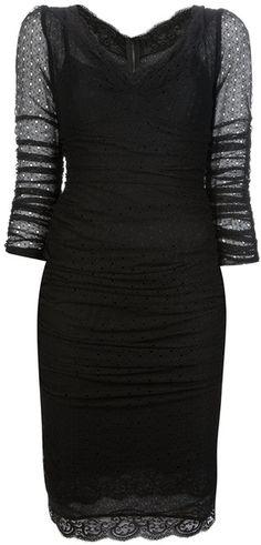 Dolce & Gabbana Vneck Dress in Black * Lyst