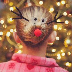 reindeer hairdo, oh yeah