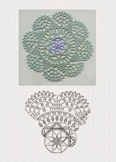 Patterns and motifs: Crocheted motif no. 335
