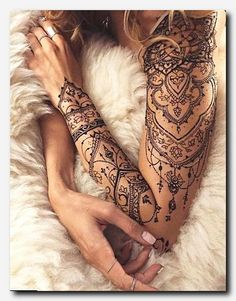 A henna tattoo or also know as temporary tattoos are a hot commodity right now. Somehow, people has considered the fact that henna designs are tattoos. Lace Tattoo Design, Mandala Tattoo Design, Henna Tattoo Designs Arm, Henna Designs Arm, Disney Mandala Tattoo, Tribal Designs, Neue Tattoos, Body Art Tattoos, Tatoos